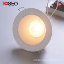IP20 CE Rosh lighting aluminum cutting 98mm round recessed downlight housing