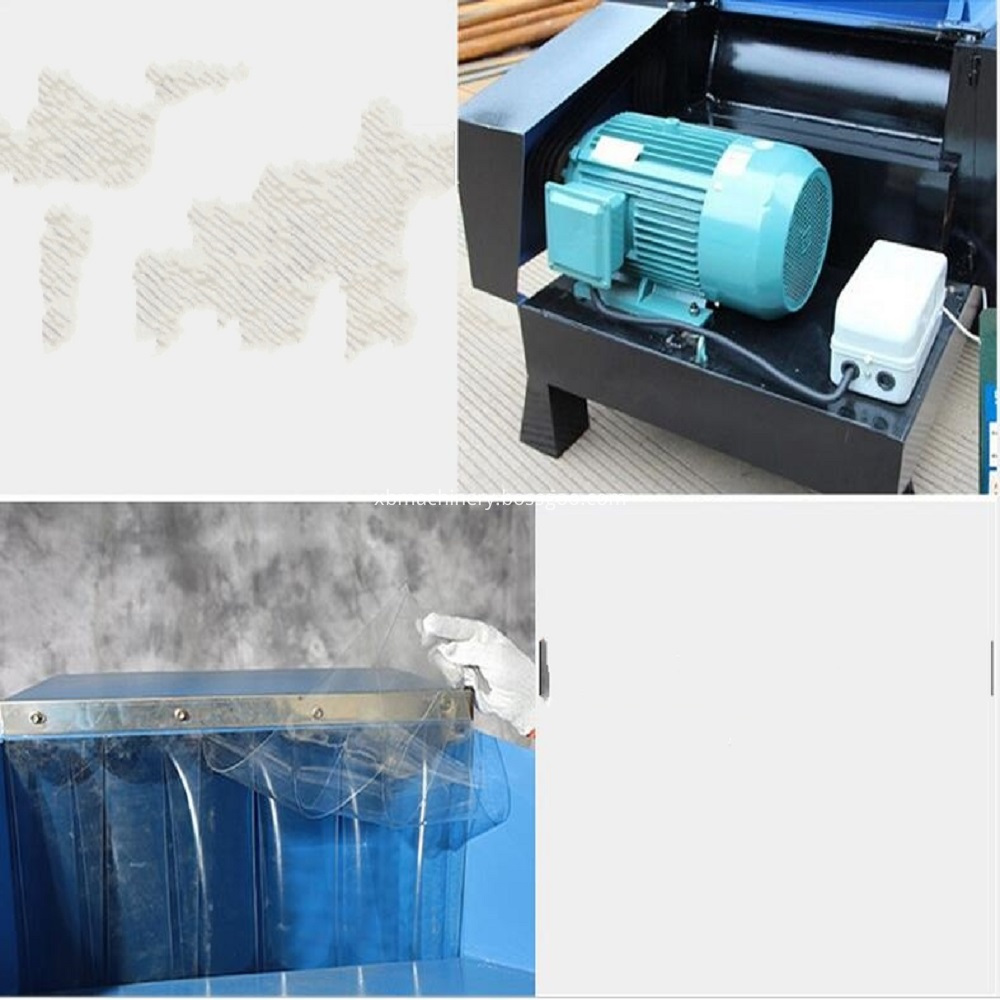 Detailed display of plastic grinder