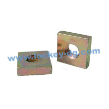 Carbon Steel Square Nut Yellow Zinc