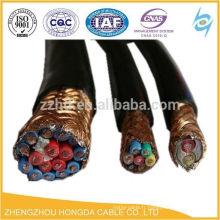 Câble de contrôle flexible en PVC blindé par tresse de cuivre de CY
