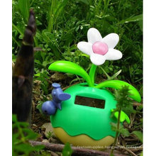 Green color solar power flowers beautiful Lucky Fruit design