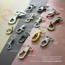 Bolsa de OEM Accesorios de metal Partes de gancho giratorio para perros