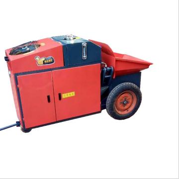Máquina transportadora y pulverizadora de maquinaria de construcción.