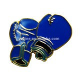 Customized your own logo metal blue Gloves lapel pins badge