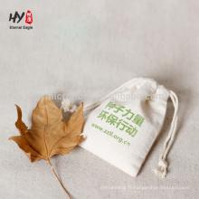 impression de logo personnalisé couleur pure sacs en coton et lin