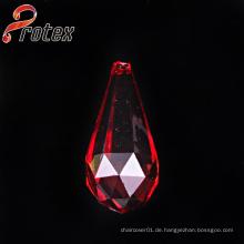 Red Drop Acryl Perlen für Dekoration, Kleidungsstück Ornament