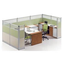 Personalizado moderno de vidrio templado de alta pared de partición de trabajo (HF-LW103)