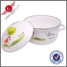 Utensilios de cocina respetuoso del medio ambiente del esmalte Utensilios de cocina olla
