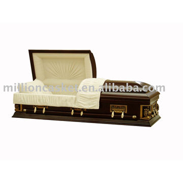 Solid poplar casket with high quality plastic hardware