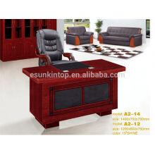 De madera pequeño tamaño moderno medio borde redondo escritorio de oficina para el personal
