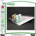 Sistema de empuje del estante del rodillo de alimentación automática