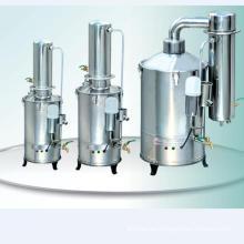 Destilador de agua portátil de acero inoxidable para laboratorio