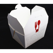 Plain White Folding Take Away Pasta Paper Box Wholesale