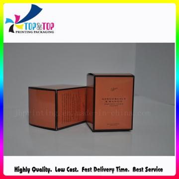 Alta qualidade personalizado caixa de embalagem de papel para a vela