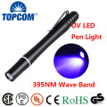 1W Money Detecter Best UV Light Flashlight 395NM-400NM Ultraviolet Pen Light For Inspection