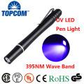 1W Money Detecter melhor luz UV Lightlight 395NM-400NM luz da caneta ultravioleta para inspeção