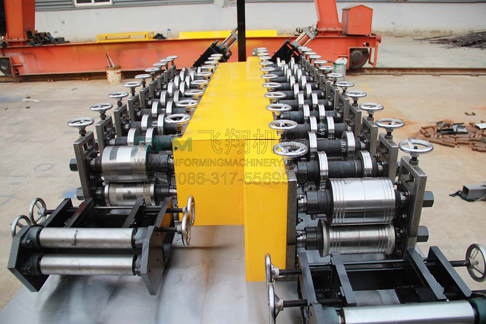 Dry wall stud channel making machine