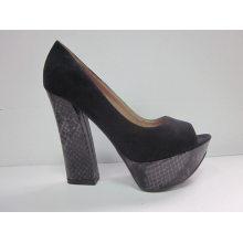 2016 novo estilo de moda peep toe senhoras sandálias (hyy03-074)