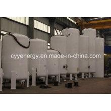 Réservoir de GNL de dioxyde de carbone d'argon d'oxygène liquide en acier soudé