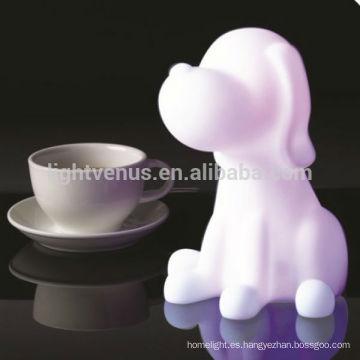 Perro en forma de Animal nocturno para el dormitorio en la decoración cambia de Color del lámpara de la noche de la mesa los niños