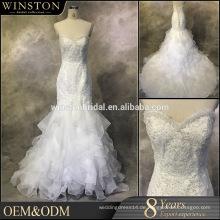 Alibaba Kleider Lieferanten lila und weißen Brautkleider