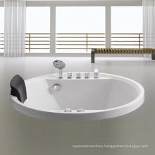 EAGO Round Acrylic Drop In massage Bathtub AM201