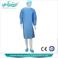 Vestido cirúrgico não tecido descartável