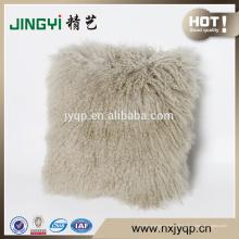 Vente chaude Curl cheveux longs Tibet agneau fourrure oreiller