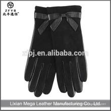Nuevos guantes de cuero forrados de lana de bajo precio de moda de diseño