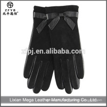 New Design Fashion Low Price Wool Lined Leather Gloves