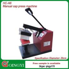 máquina de prensa térmica utilizada en la transferencia de tapas