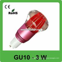CE & ROHS 3w AC 85v-265v RGB Mini-Spotlicht gu10 Glühlampe, 3 Jahre Garantie