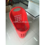 Three Wheels Supermarket New Plastic Rolling Shopping Baskets Manufacturer
