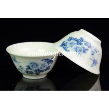 Tasse à thé en céramique bleue, 30 cc / tasse