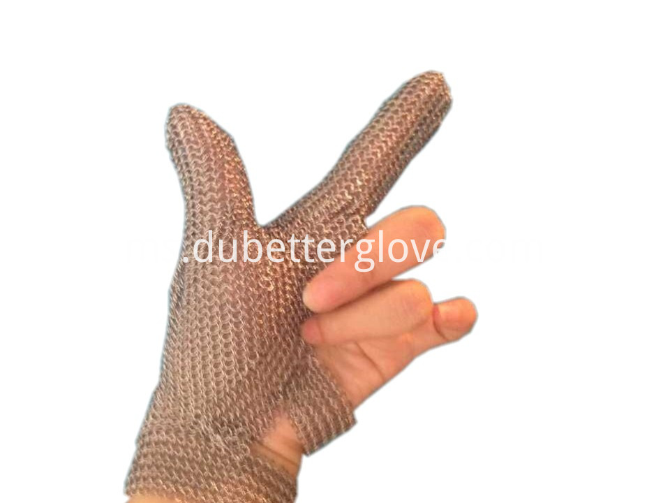 Dubetter Two-finger-chain-mail-metal-mesh-glove