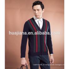 2015 casaco de malha de cashmere masculina