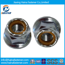 Grade 8 Zinc-Plated Flange Hex Nylon Insert lock Nut