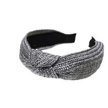 Bandeau cheveux tali rambut Fabric Vintage Handmade Woven PP Straw Braided Broadsided Headband Women Girl Hair Accessories