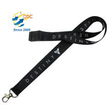 Various Styles Factory Directly Sell Black Heat Transfer Lanyards Neck Strap