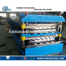 Metal Trapezoidal Roof Sheet e Step Tile Double Deck Roll formando máquina, Roofing Sheet Making Machine