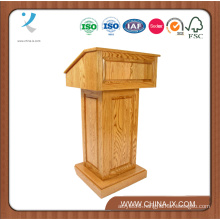 Customized Wood Podium with Wheels Convertible Design