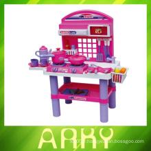Lovely Pink Girl Toys Ensemble de jeux de cuisine en plastique