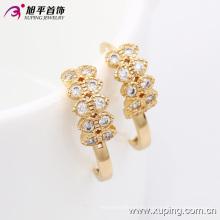 29951 Xuping Hot Sale Women regalos con 18 quilates de oro pendientes