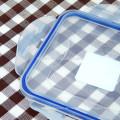 verschließbaren Lebensmittel Lagerung Behälter aus Kunststoff Quadrat