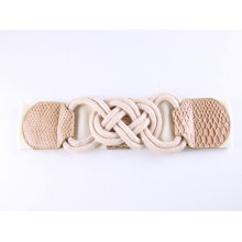 Customize Fashion Buckles Belts and Women Cotton Elastic Belt