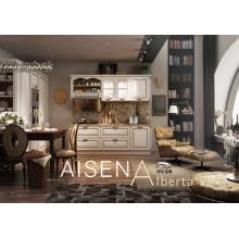 Design de móveis de cozinha pvc clássico adequado para Villa
