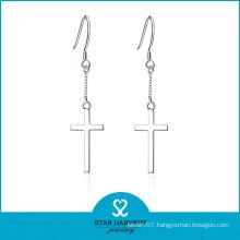 Cross Shaped Stylish Sterling Jewelry Earrings