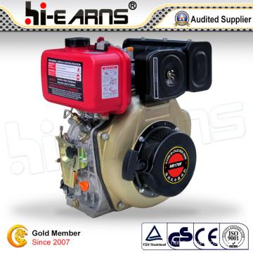 Diesel Engine with Keyway Shaft Red Golden Color (HR178F)