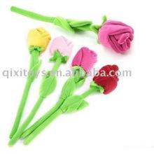 valentim de pelúcia macia rosa flor brinquedo
