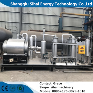 Batch Type Pyrolysis Plant Processing Limbah Ban